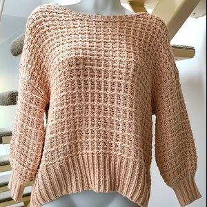 GAP Loose Knit Peach Boatneck Sweater M